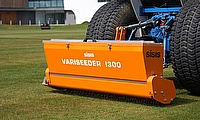 A SISIS Variseeder 1300 is used for seeding the pitch