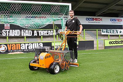 SISIS Helps Forest Green Rovers with Intense Aeration Programme