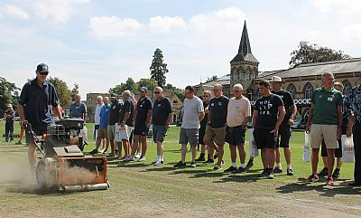 SISIS scarifier in action at Cheltenham College