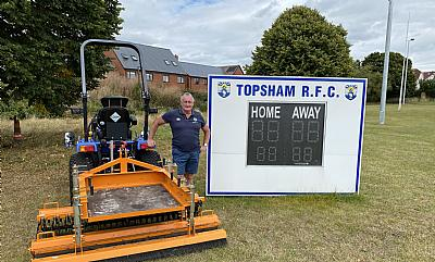 SISIS Quadraplay working in partnership with Topsham Rugby Club